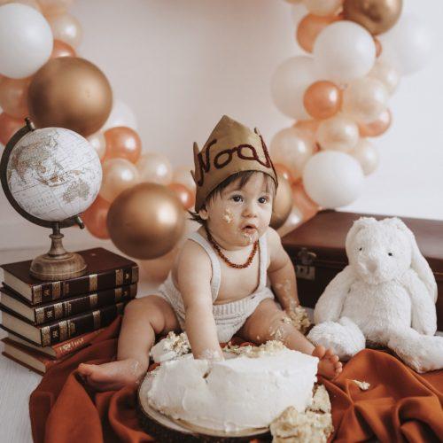 foto compleanno con torta