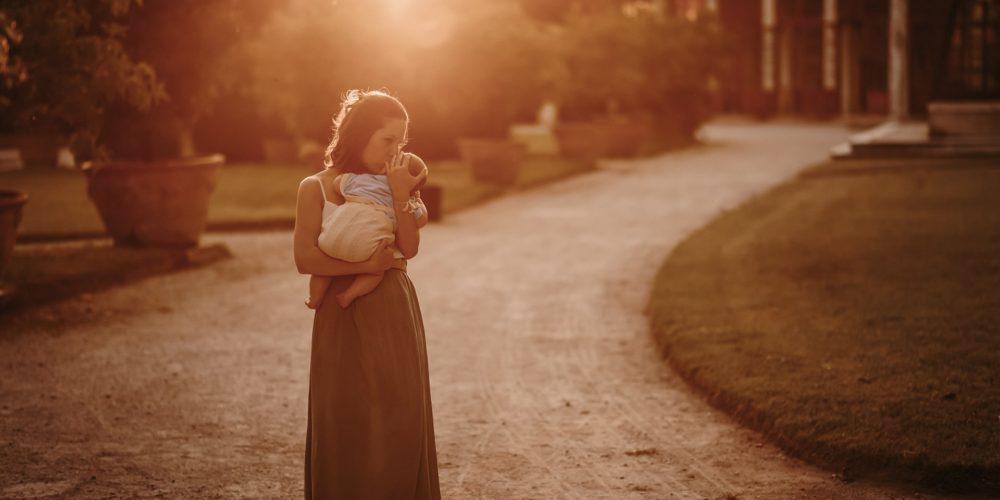 foto mamma tramonto