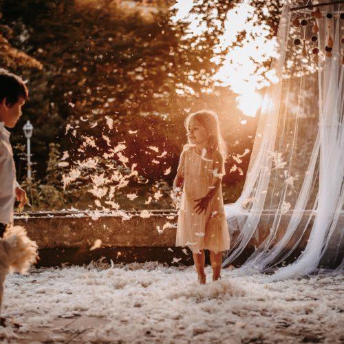 servizio fotografico bambini tramonto