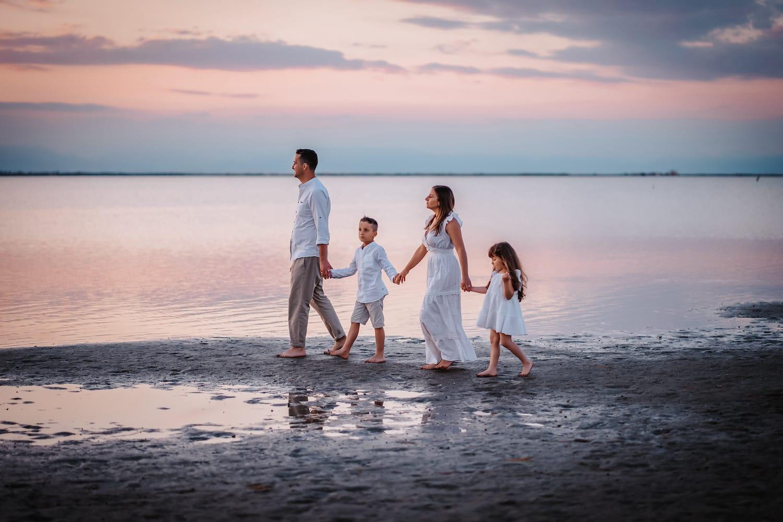 servizio fotografico famiglia mare